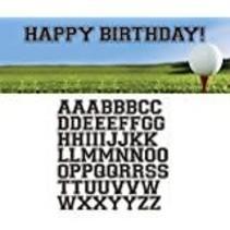***Sports Fanatic Golf Giant Birthday Banner w/ Stickers