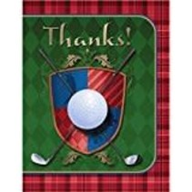 ***Tee Time Golf Thank You Notes 8ct
