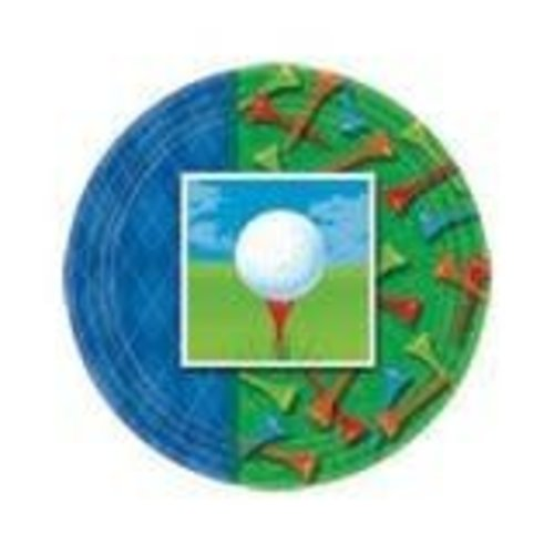"*Tee Time Golf 9"" Plates"
