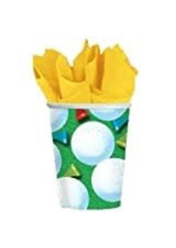 ***Tee Time Golf 9oz Cups 8ct