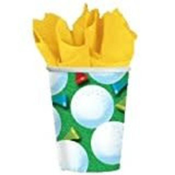 *Tee Time Golf 9oz Cups 8ct