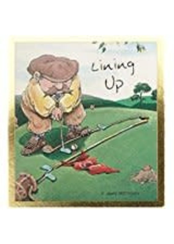 ****Lining Up Golf Magnetic Bookmark
