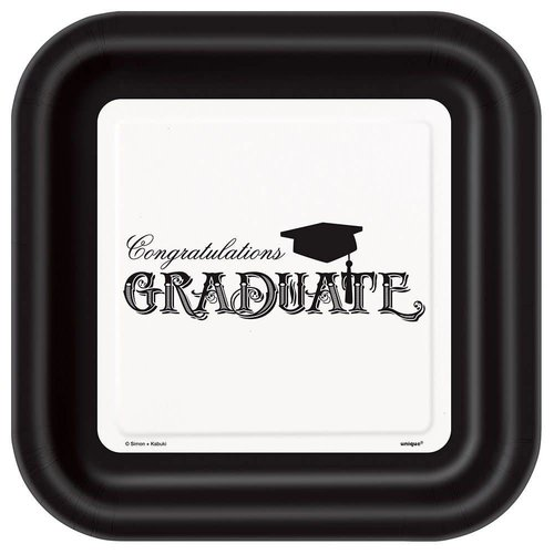 Simply Graduation 9in Square Plates