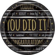 You Did It! Graduation 9in Plates
