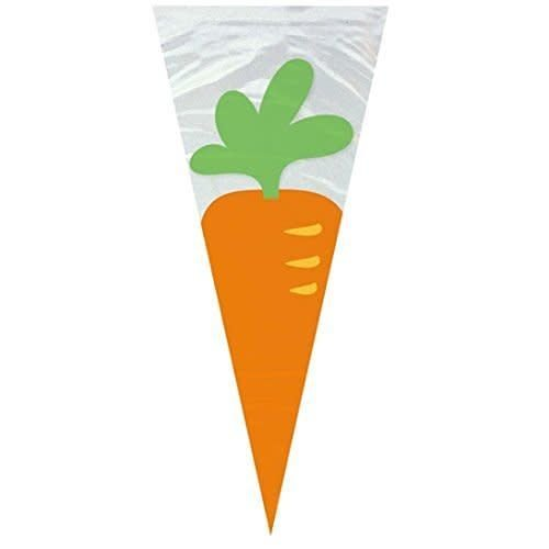 *Carrot Shape Cello Gift Bags 20ct