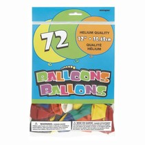 """***12"""" Latex Balloons, 72ct - Assorted Colors"""
