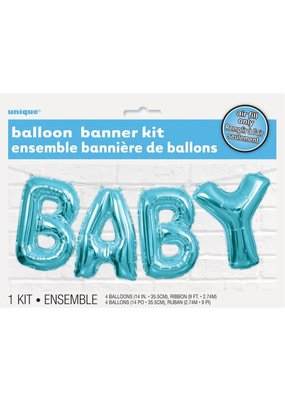 ***Baby Balloon Letter Kit Baby Blue