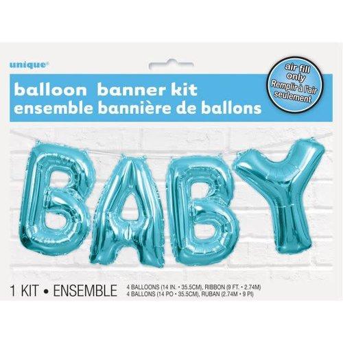 """Blue """"BABY"""" Balloon Letter Kit"""