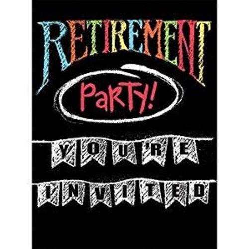 Retirement Chalk Invitations