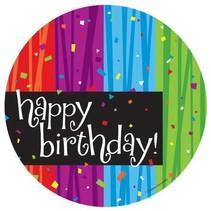 Happy Birthday Milestone Celebrations 7in Plate