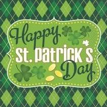 ***Lunch Napkins Argyle St. Patrick's Day