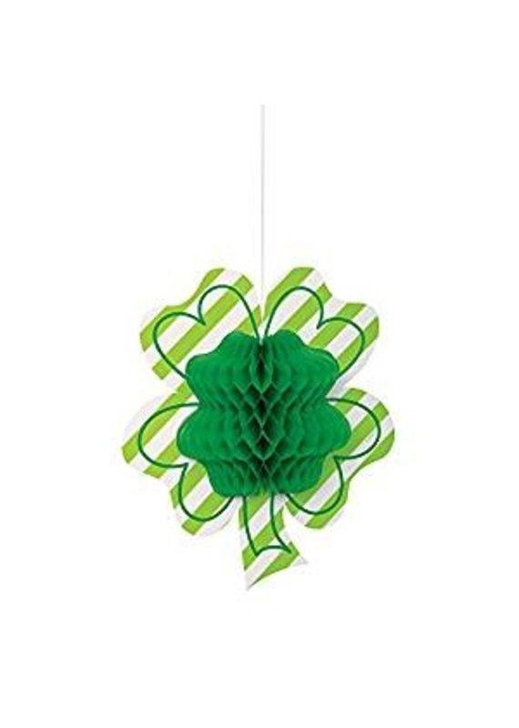 """****Shamrock Honeycomb Hanging 12"""" Decoration"""
