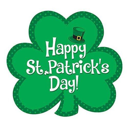 Happy St. Patrick's Day Shamrock Cutout