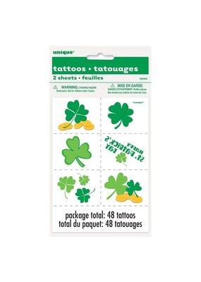 ***St. Patrick's Day Temporary Tattoos 2 sheets