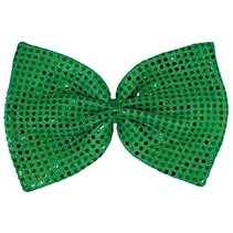 ***Giant Green Sequin Bow