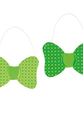 ***St. Patrick's Day Paper Bow Ties 6ct