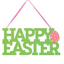 *Happy Easter Glitter Sign