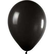 "***12"" Latex Balloons, 72ct - Jet Black"