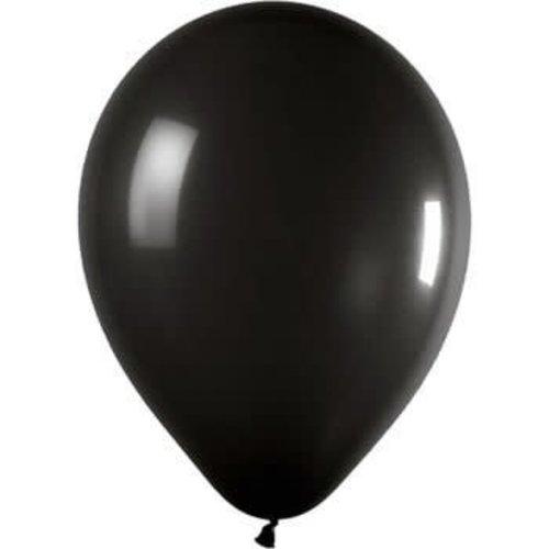 *Jet Black 72ct Latex Balloons