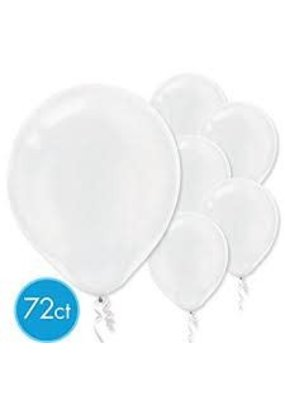 """****12"""" Latex Balloons, 72ct - Clear"""