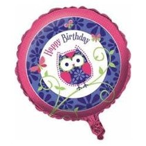 ***Owl Pal Birthday Mylar Balloon