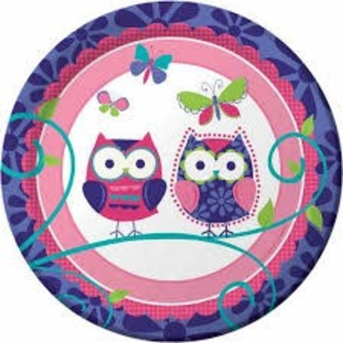 "*Owl Pal 7"" Plates"