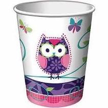 ***Owl Pal 9oz Paper Cups