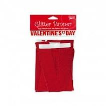 **Valentine's Day Glitter Ribbon Banner 9ft