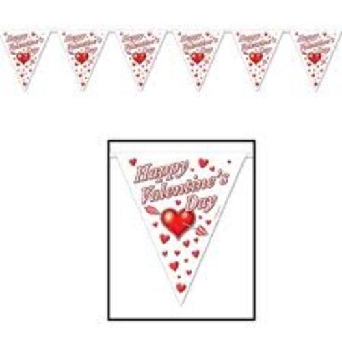 **Valentine's Day Flag Banner