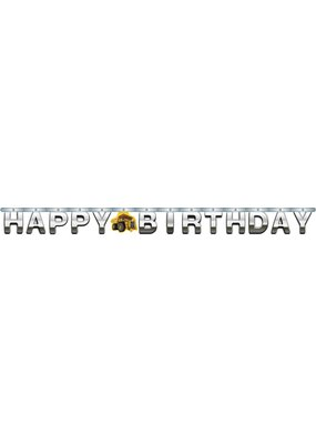 ****Construction Birthday Zone Jointed Banner