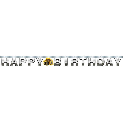 *Construction Birthday Zone Jointed Banner