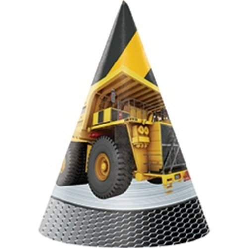 *Construction Zone Cone Party Hats 8ct