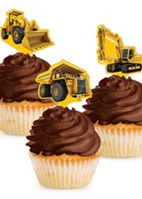 ***Construction Zone Cupcake Picks 12ct