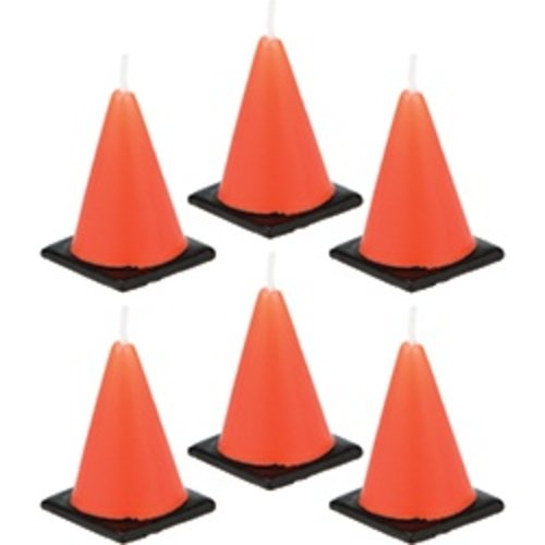 *Construction Zone Orange Cone Candles 6ct