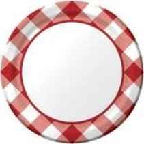 """***Gingham Galore 7"""" Plate 8ct"""