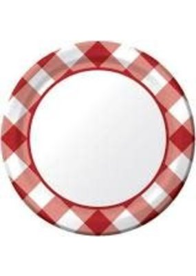 "***Gingham Galore 7"" Plate 8ct"
