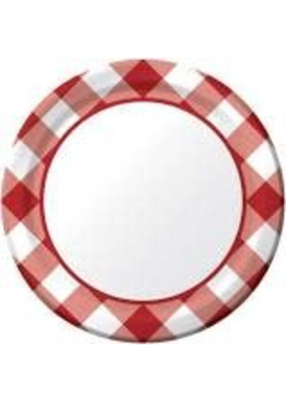 """*****Gingham Galore 7"""" Plate 8ct"""