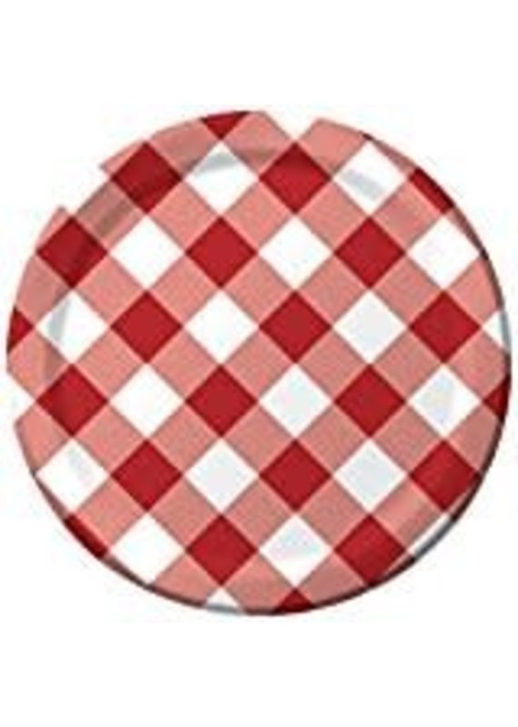 "Gingham Galore 9""  Dinner Plates 8ct"