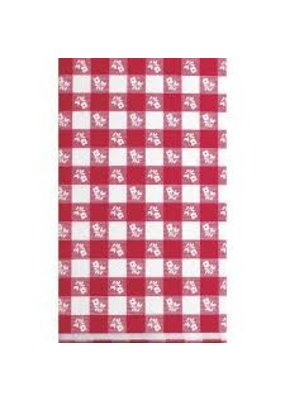 ***Red Gingham 54x108 Plastic Tablecover
