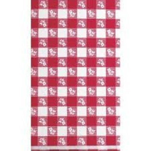 *Red Gingham 54x108 Plastic Tablecover