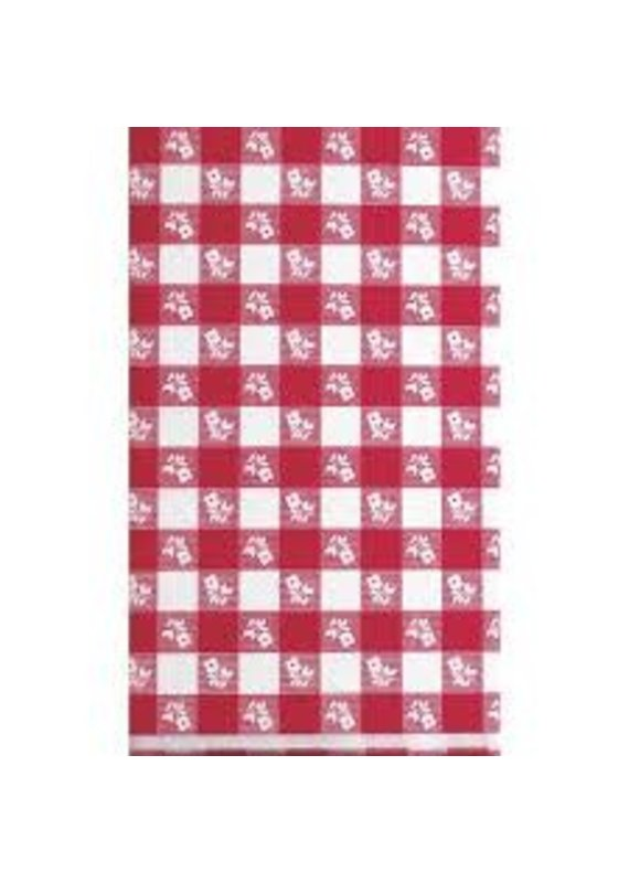 *****Red Gingham 54x108 Plastic Tablecover