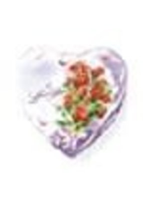 Pioneer Balloon Company ***Love Floral Heart Shape Mylar Balloon