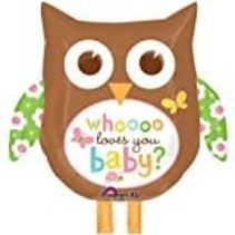 ***Owl Who Loves You Baby Jumbo Mylar Balloon