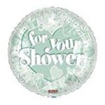 """***FOR YOUR SHOWER Mint Green 18"""" Mylar Balloon"""
