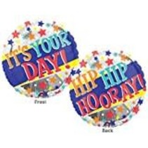 """*It's Your Day 18"""" Mylar Balloon"""