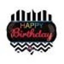 "*Happy Birthday 25"" Birthday Celebration Mylar Balloon"