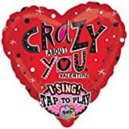 **Crazy About You Valentine Singing Balloon