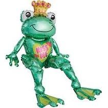 *Kiss Me Frog Prince Sitting Mylar Balloon