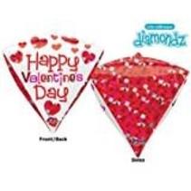 **Valentine Diamondz Mylar Balloon