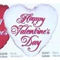 **Silver Happy Valentine Heart Shape Mylar Balloon